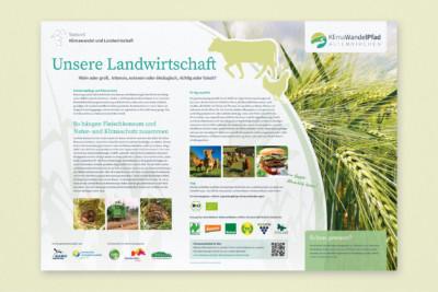 Klimawandelpfad Infotafel Landwirtschaft