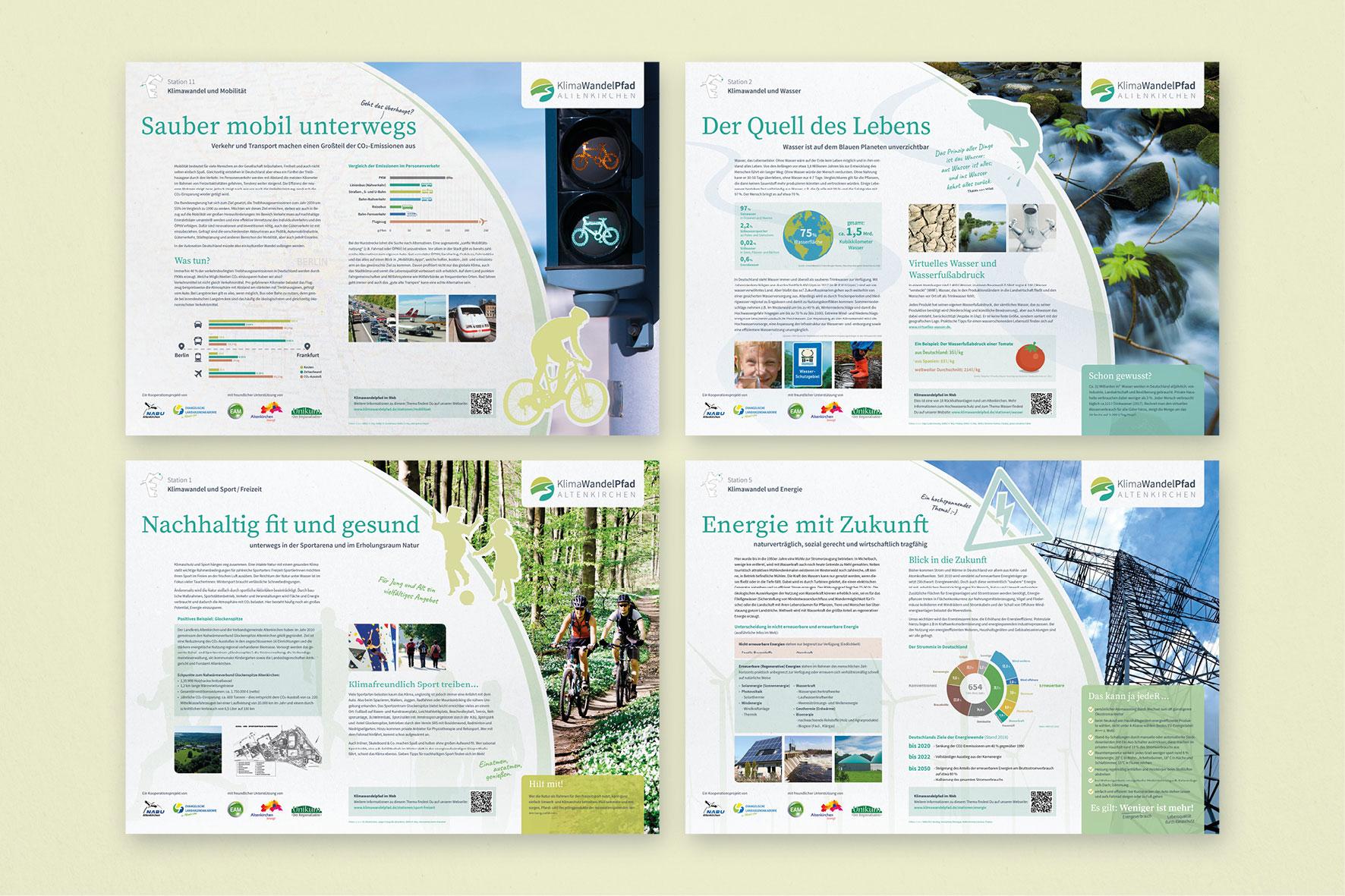 Klimawandelpfad Altenkirchen Infotafeln